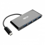 Tripp Lite Hub USB 3.1 - 4x USB A 3.0 / 1x USB C 3.1 Hembra, 5000 Mbit/s, Negro