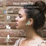 Trust Audífonos Intrauriculares con Micrófono Primo Touch, Inalámbrico, Bluetooth, Menta