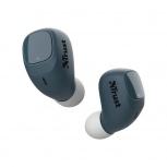Trust Audífonos Intrauriculares con Micrófono Nika Compact, Inalámbrico, Bluetooth, Azul