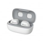 Trust Audífonos Intrauriculares con Micrófono Nika Compact, Inalámbrico, Bluetooth, Blanco
