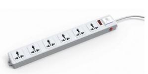 txPRO Barra Multicontacto  TX-120VW, 6 Contactos, 120V, Blanco