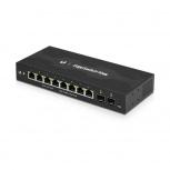 Switch Ubiquiti Networks Gigabit Ethernet EdgeSwitch 10XP, 8 Puertos 10/100/1000Mbps, 20 Gbit/s - Gestionado