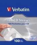Verbatim Sobres de Papel para CD/DVD, Blanco, 100 Piezas