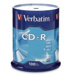 Verbatim Torre de Discos Virgenes para CD, CD-R, 52x, 100 Piezas