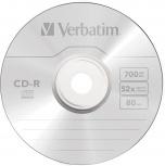 Verbatim Disco Virgen para CD, CD-R, 52x, 700MB, 1 Pieza