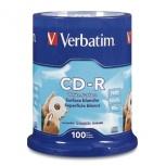 Verbatim Discos Virgenes para CD, CD-R, 52x, 100 Discos (94712)