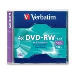 Verbatim Disco Vírgen para DVD, DVD-RW, 4x, 1 Disco (94836)