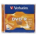 Verbatim Disco Vírgen para DVD, DVD-R, 16x, 1 Disco (95051)