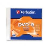 Verbatim Disco Vírgen para DVD, DVD-R, 16x, 1 Disco (95093)