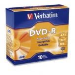 Verbatim Disco Vírgen para DVD, DVD-R, 16x, 4.7GB, 10 Piezas