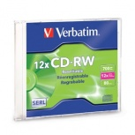 Verbatim Disco Virgen para CD, CD-RW, 12x, 1 Disco (95161)