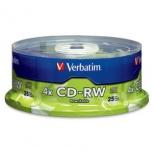Verbatim Torre de Discos Virgenes para CD, CD-RW, 700MB, 25 Piezas