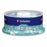 Verbatim Torre de Discos Virgenes para DVD, DVD-RW, 4x, 30 Discos (95179)