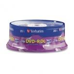 Verbatim Torre de Discos Virgenes para DVD, DVD+R Double Layer, 20 Discos