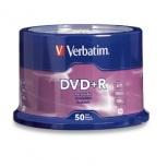 Verbatim Discos Virgenes para DVD, DVD-R, 16x, 4.7GB, 50 Piezas