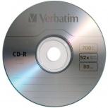 Verbatim Discos Virgenes para CD, CD-R, 52x, 1 Disco (96298)