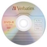 Verbatim Torre de Discos Virgenes para DVD, DVD-R, 25 Discos (97610)