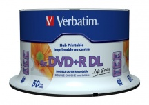 Verbatim Torre de Discos Virgenes para DVD, DVD+R DL, 8x, 8.5GB, 50 Discos