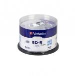 Verbatim Torre de Discos Virgenes Blu-Ray, BD-R 6x, 25GB, 50 Piezas