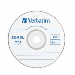 Verbatim Torre de Discos Virgenes para Blu-Ray, BD-R DL, 6x, 50GB, 25 Discos