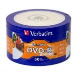 Verbatim Torre de Discos Virgenes para DVD, DVD-R, 16x, 4.7GB, 50 Discos