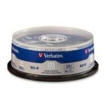 Verbatim Discos Virgenes para Blu-Ray, BD-R, 4x, 25GB, 25 Piezas