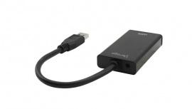 Vorago Adaptador HDMI Hembra - USB Macho, Negro