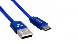 Vorago Cable USB A Macho - USB-C Macho, 1 Metro, Azul