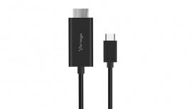 Vorago Cable CAB-304 HDMI Macho - USB-C Macho, 1.8 Metros, Negro