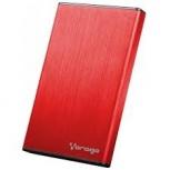 Vorago Gabinete de Disco Duro HDD-201, 2.5'', SATA, USB 3.0, Rojo