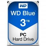Disco Duro Interno Western Digital WD Blue 3.5'', 3TB, SATA III, 6 Gbit/s, 5400RPM, 64MB