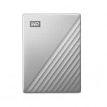 Disco Duro Externo Western Digital WD My Passport Ultra 2.5'', 4TB, USB 3.2, Plata - para Mac/PC
