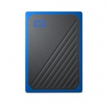 SSD Externo Western Digital WD My Passport Go, 1TB, USB, Negro/Azul - para Mac/PC