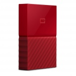 Disco Duro Externo Western Digital WD My Passport, 2TB, USB 3.0, Rojo