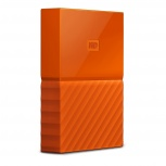 Disco Duro Externo Western Digital WD My Passport 2.5'', 4TB, USB 3.0, Naranja