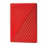 Disco Duro Externo Western Digital WD My Passport, 2TB, USB 3.2, Rojo