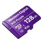 Memoria Flash Western Digital WD Purple, 128GB MicroSDXC V30 Class 3 (U3), para Videovigilancia