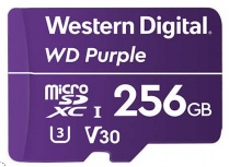 Memoria Flash Western Digital WD Purple, 256GB MicroSDXC V30 Class 3 (U3), para Videovigilancia
