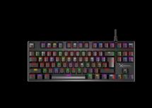 Teclado Gamer XZEAL XZ1020, Teclado Mecánico, Switch Red, Alámbrico, Negro (Español)