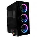 Gabinete Yeyian Shadow 2200 con Ventana RGB, Full-Tower, ATX, USB 3.0, sin Fuente, Negro