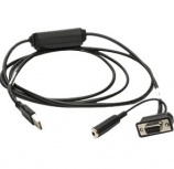 Zebra Cable USB - Serial, Negro