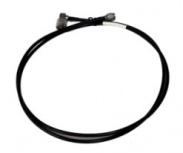 Zebra Cable Coaxial LMR 240 RF Macho - RF Macho, 1.7 Metros, Negro