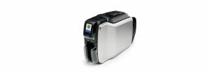 Zebra ZC300 Impresora de Credenciales, Sublimación/Transferencia Térmica, Doble Cara, 300 x 300DPI, USB, Ethernet, ISO HiCo/Loco Mag S/W Seleccionable, Negro/Plata