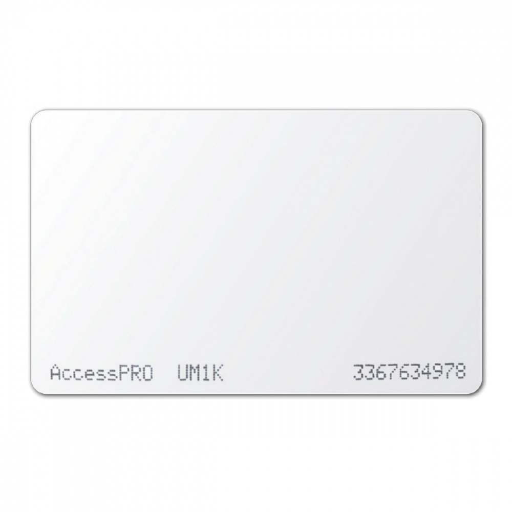 AccessPRO Tarjeta RFID/Mifare, 5.4 x 8.56cm, Blanco