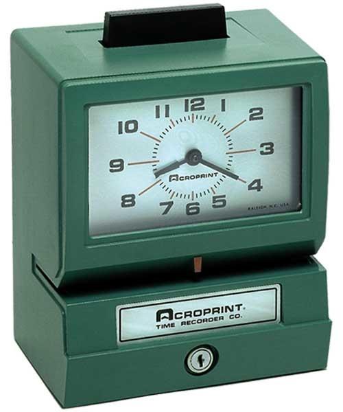 Acrorprint Reloj Checador Mécanico Izquierdo 125QL4, Analógico, Verde