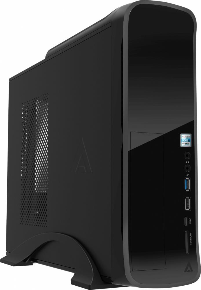 Gabinete Acteck IVO GI001, Midi-Tower, Micro-ATX/Mini-ITX, USB 2.0/3.1, con Fuente de 500W, Negro