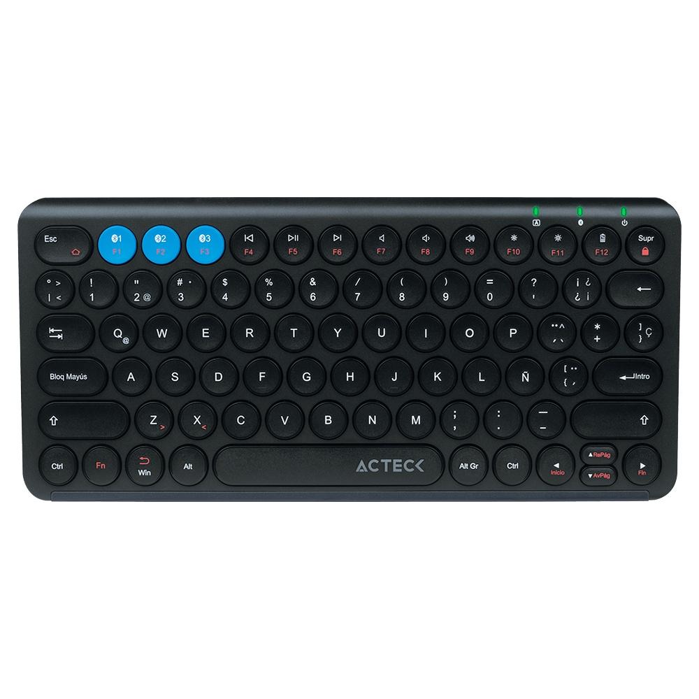 Teclado Multidispositivo Acteck TX20, Inalámbrico, Bluetooth, Negro (Español)