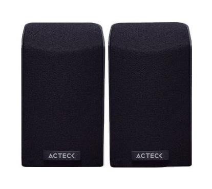 Acteck Bocina Entry 750, Alámbrico, 2.0 Canales, 1W RMS, USB, Negro