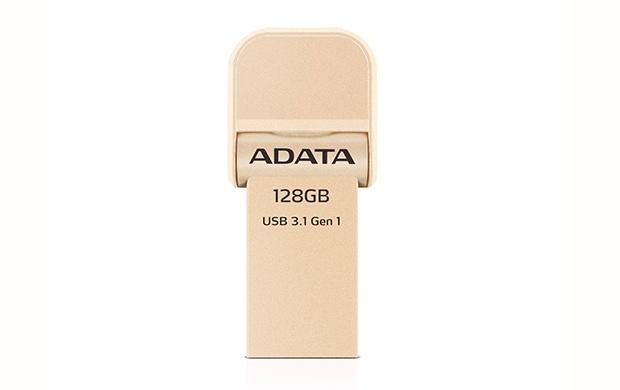 Memoria USB Adata AI920, 128GB, Lightning/ USB 3.0, Oro - para iPhone/iPad/iPod