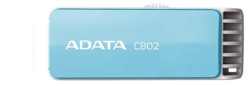 Memoria USB Adata C802, 16GB, USB 2.0, Azul Claro